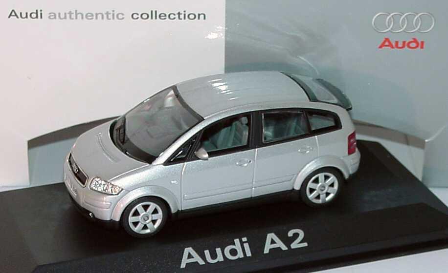 Foto 1:43 Audi A2 lichtsilber-met. Werbemodell Minichamps 5010002013
