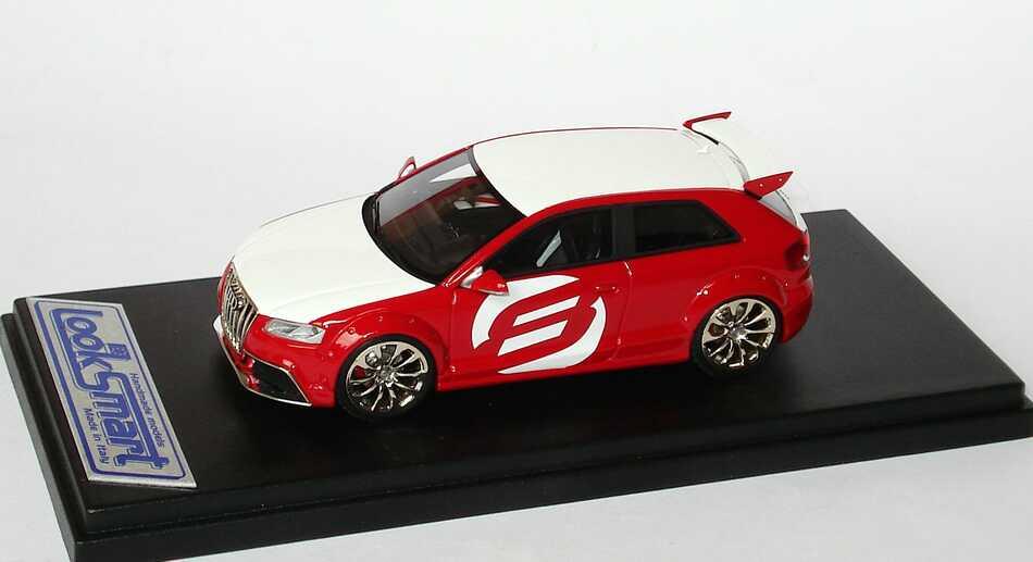 Foto 1:43 Audi A3 TDI Clubsport rot/weiß Looksmart LSAUDIA3CS
