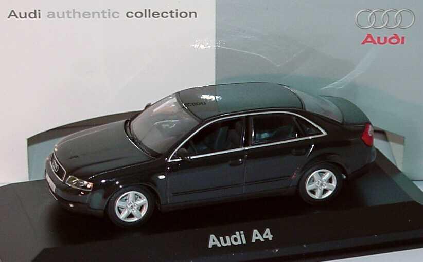 Foto 1:43 Audi A4 3.0 quattro (B6) ebonyschwarz-met. Werbemodell Minichamps 5010004143
