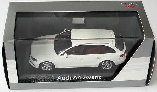 Foto 1:43 Audi A4 Avant (B8) ibisweiß Werbemodell Minichamps 5010804213