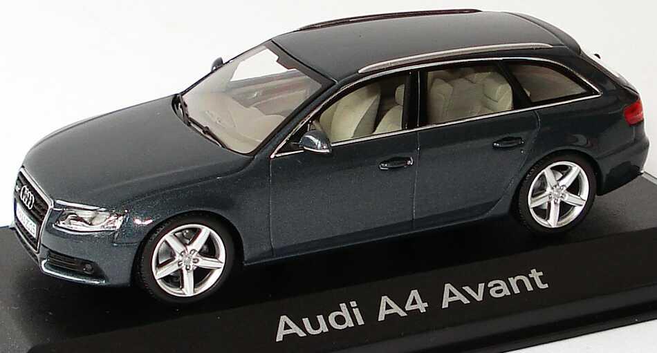 Foto 1:43 Audi A4 Avant (B8) meteorgrau-met. Werbemodell Minichamps 5010804233