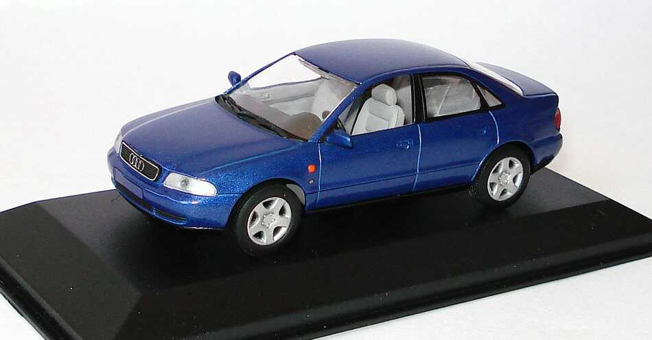 Foto 1:43 Audi A4 (B5) blau-met. Werbemodell Minichamps