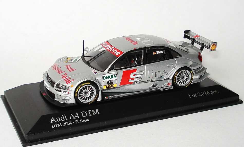 Foto 1:43 Audi A4 DTM 2004 S Line Nr.45, Frank Biela Minichamps 400041445