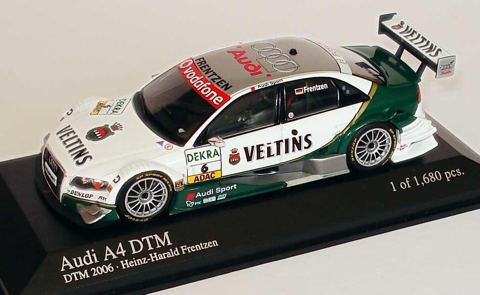 Foto 1:43 Audi A4 DTM 2006 Veltins, Abt Sportsline Nr.6, Frentzen Minichamps 400069606