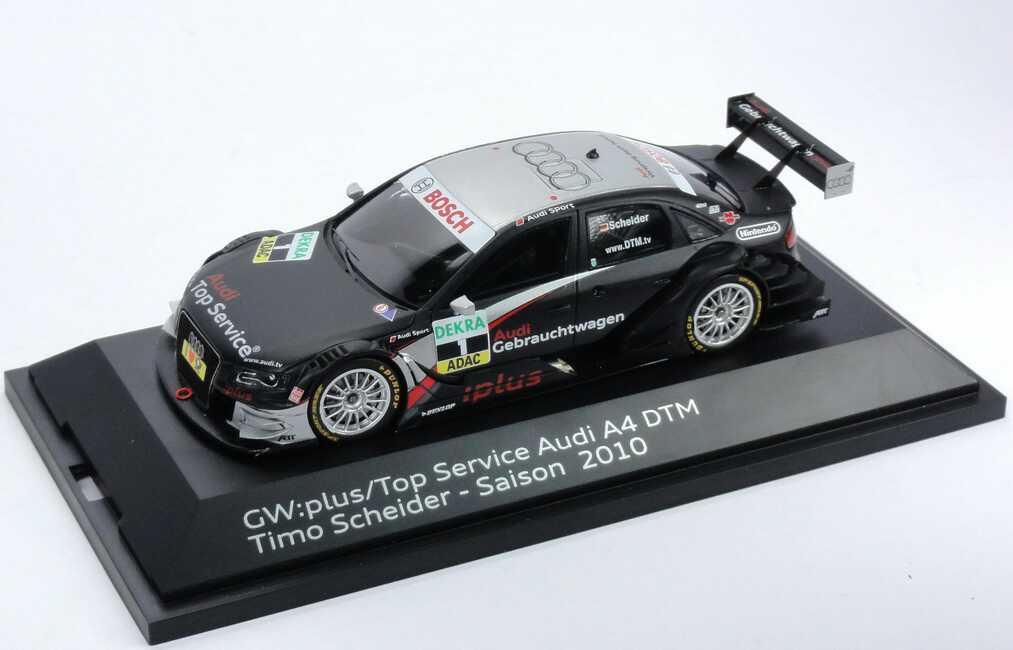 Foto 1:43 Audi A4 DTM 2010 Abt, GW:plus/Top Service Nr.1, Timo Scheider Werbemodell Spark 5021000123