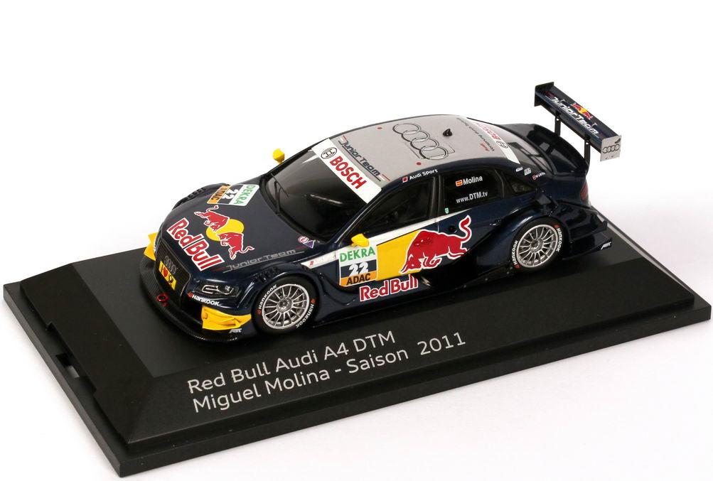 Foto 1:43 Audi A4 DTM 2011 Abt, Red Bull Nr.22, Miguel Molina Werbemodell Spark 5021100263