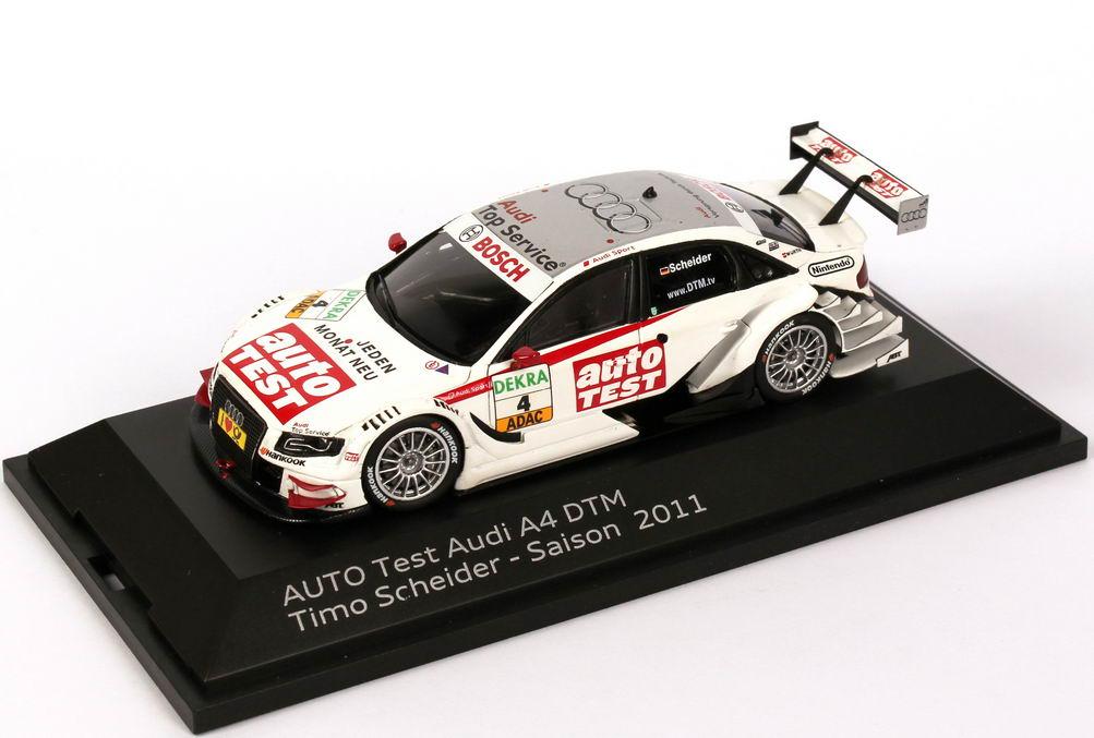Foto 1:43 Audi A4 DTM 2011 Abt, auto TEST Nr.4, Timo Scheider Werbemodell Spark 5021100213