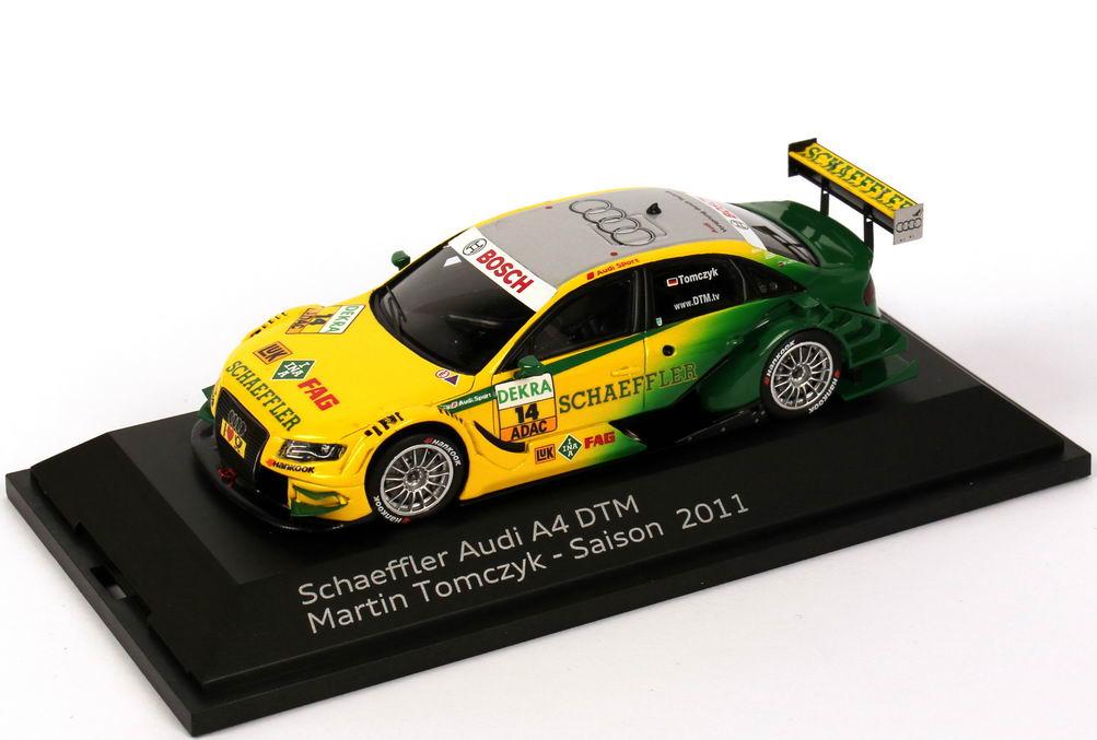 Foto 1:43 Audi A4 DTM 2011 Phoenix, Schaeffler Nr.14, Martin Tomczyk Werbemodell Spark 5021100253