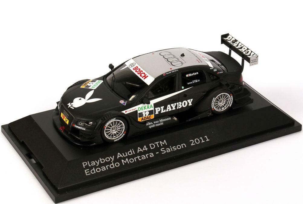 Foto 1:43 Audi A4 DTM 2011 Rosberg, Playboy Nr.19, Edoardo Mortara Werbemodell Spark 5021100273
