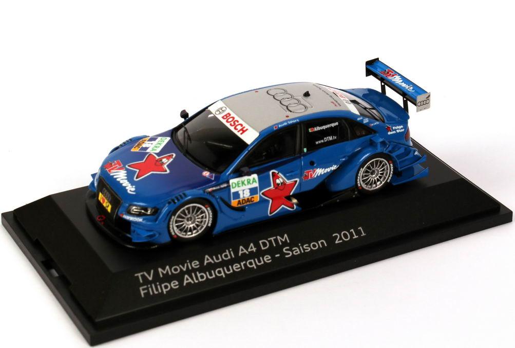 Foto 1:43 Audi A4 DTM 2011 Rosberg, TV Movie Nr.18, Filipe Albuquerque Werbemodell Spark 5021100283
