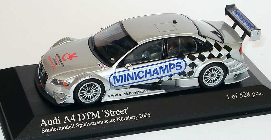 Foto 1:43 Audi A4 DTM Street Spielwarenmesse Nürnberg 2006 Minichamps 400051503