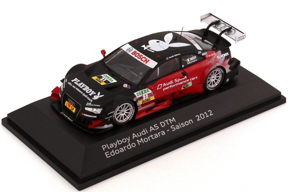 Foto 1:43 Audi A5 DTM 2012 Playboy, Audi Sport performance cars Nr.21, Edoardo Mortara Werbemodell Spark 5021200183