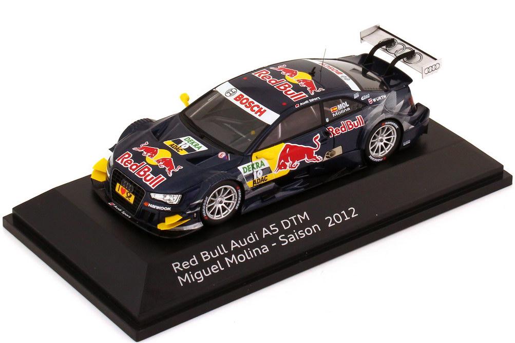 Foto 1:43 Audi A5 DTM 2012 Red Bull Nr.10, Muguel Molina Werbemodell Spark 5021200153