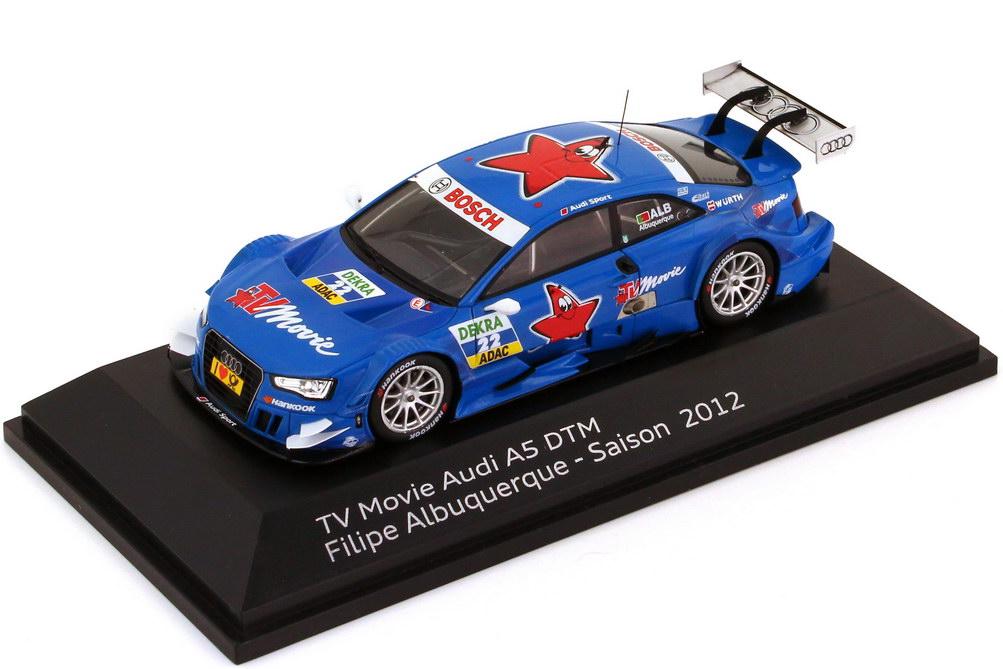 Foto 1:43 Audi A5 DTM 2012 TV Movie Nr.22, Filipe Albuquerque Werbemodell Spark 5021200193