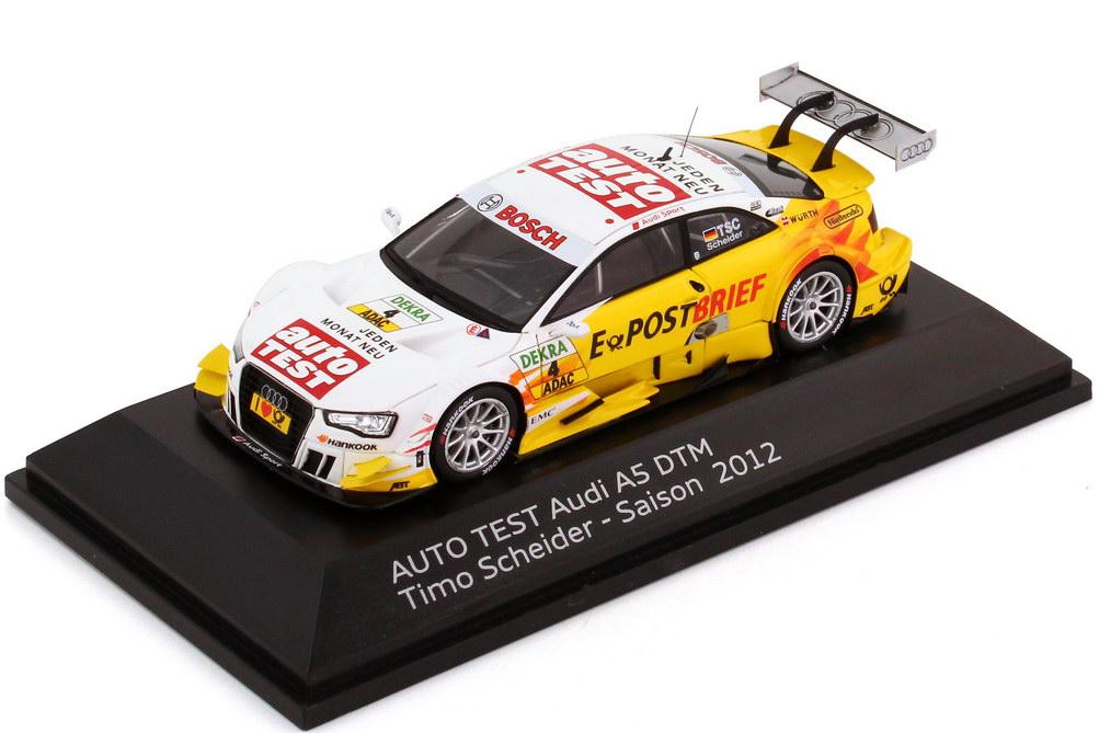 Foto 1:43 Audi A5 DTM 2012 auto TEST, E-PostBrief Nr.4, Timo Scheider Werbemodell Spark 5021200133