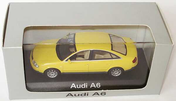 Foto 1:43 Audi A6 (C5) gelb Werbemodell Minichamps 20000000047004