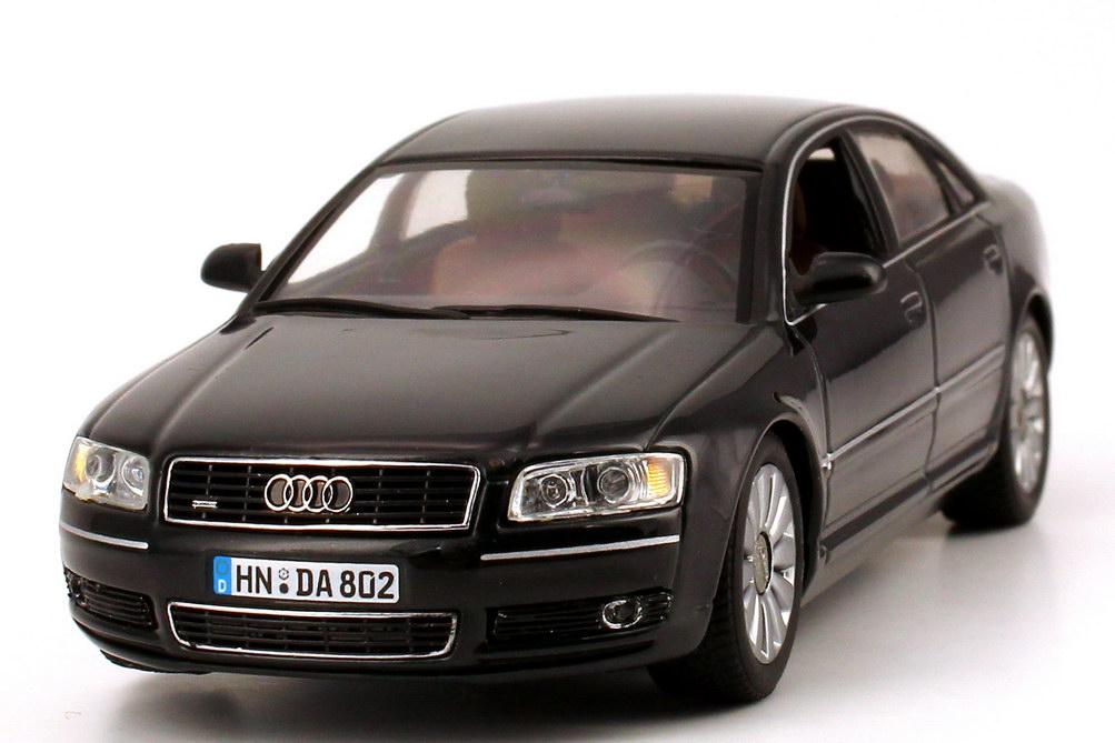 Foto 1:43 Audi A8 (D3) 2003 ebonyschwarz-met. Werbemodell Minichamps 20000001386002
