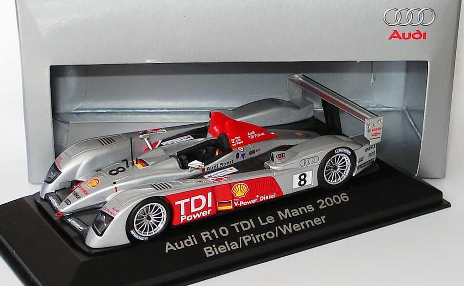 Foto 1:43 Audi R10 TDI 24h von Le Mans 2006 Nr.8 Biela/Pirro/Werner Werbemodell Siegerfahrzeug Minichamps 5020601023