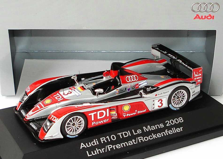 Foto 1:43 Audi R10 TDI 24h von Le Mans 2008 Nr.3, Luhr / Premat / Rockenfeller Werbemodell Spark 5020800233