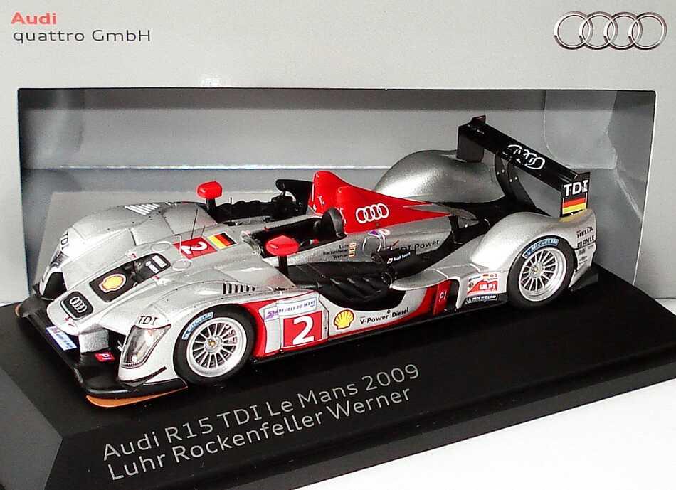 Foto 1:43 Audi R15 TDI 24h von Le Mans 2009 Audi Sport North America Nr.2, Luhr / Rockenfeller / Werner Werbemodell Spark 5020900223