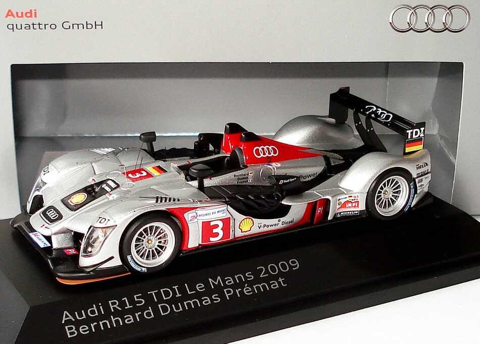 Foto 1:43 Audi R15 TDI 24h von Le Mans 2009 Audi Sport Team Joest Nr.3, Bernhard / Dumas / Premat Werbemodell Spark 5020900233