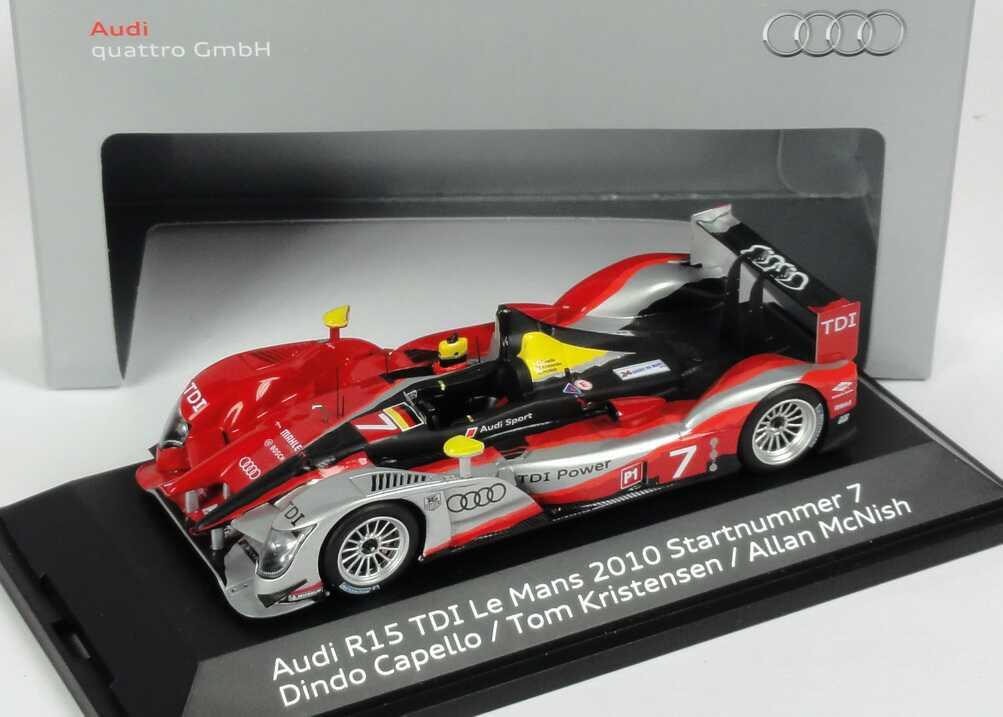 Foto 1:43 Audi R15+ TDI 24h von Le Mans 2010 Nr.7, Capello / Kristensen / McNish Werbemodell Spark 5021000233
