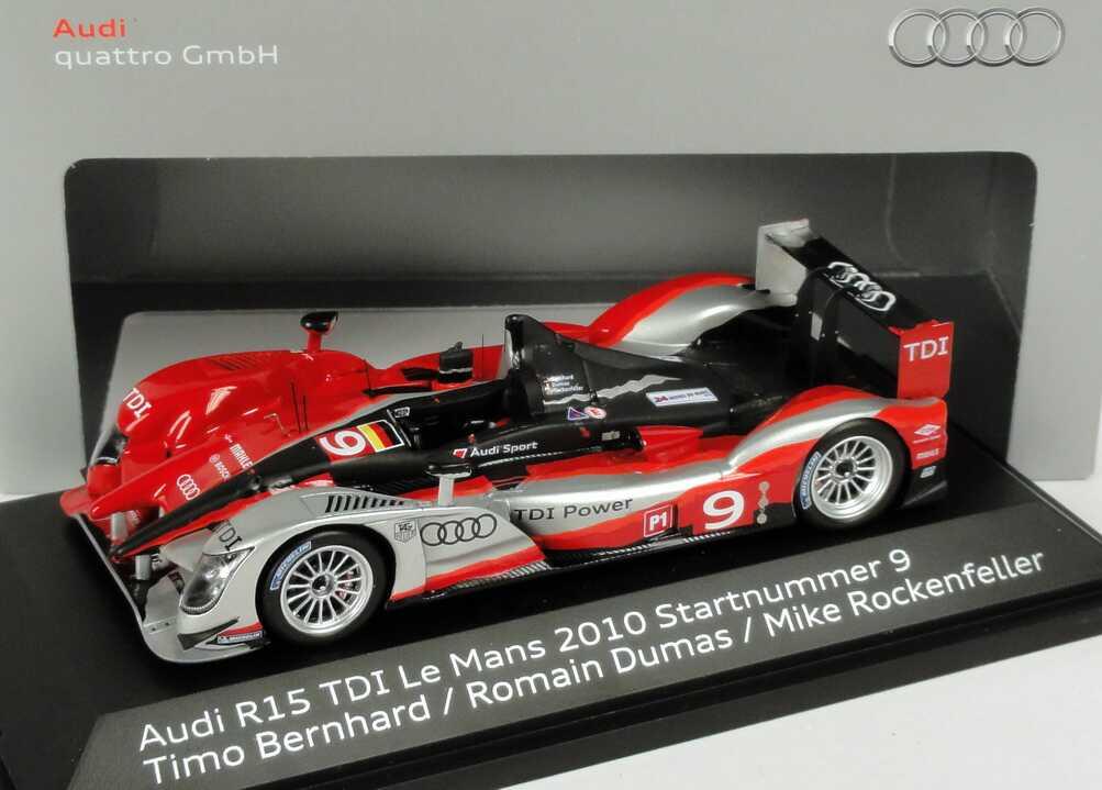 Foto 1:43 Audi R15+ TDI 24h von Le Mans 2010 Nr.9, Bernhard / Dumas / Rockenfeller (Siegerfahrzeug) Werbemodell Spark 5021000213