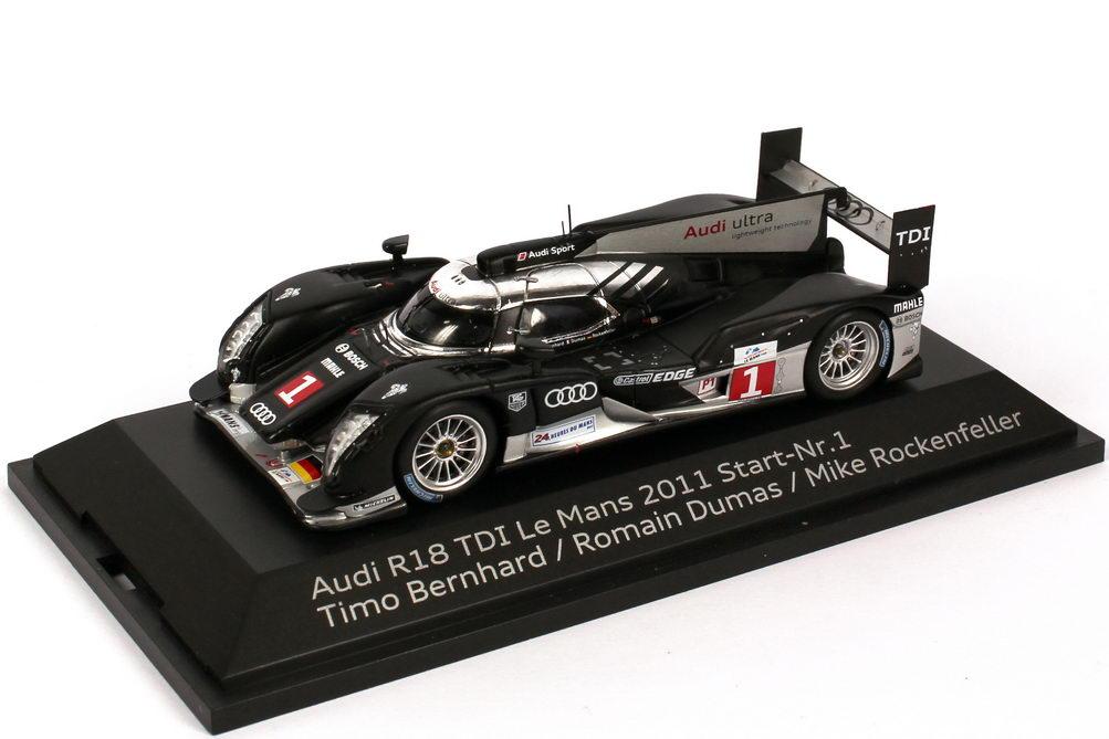 Foto 1:43 Audi R18 TDI 24h von Le Mans 2011 Nr.1, Bernhard / Dumas / Rockenfeller Werbemodell Spark 5021100123