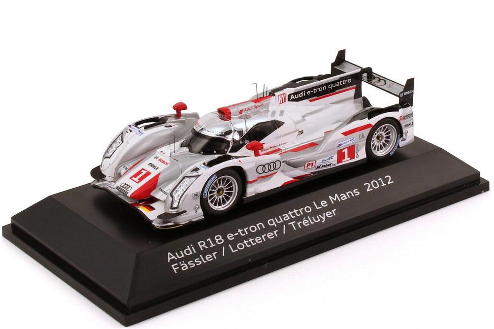 Foto 1:43 Audi R18 e-tron quattro 24h von LeMans 2012 Nr.1, Fässler / Lotterer / Tréluyer Werbemodell Spark 5021200233