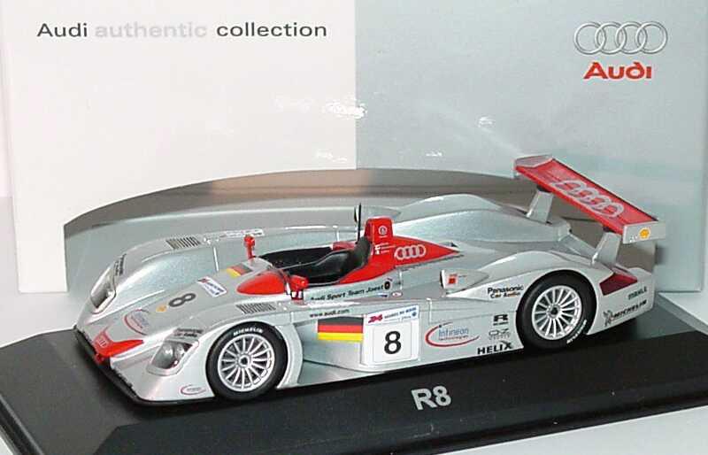 Foto 1:43 Audi R8 24h von Le Mans 2000 Nr.8, Biela/Kristensen/Pierro Maisto, Siegerfahrzeug Werbemodell Minichamps 20000000970