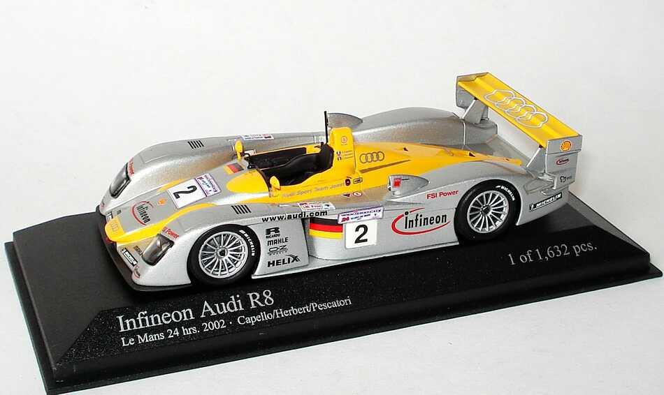 Foto 1:43 Audi R8 24h von Le Mans 2002 Infineon Nr.2, Capello/Herbert/Pescatori Minichamps 400021302