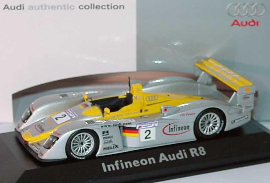 Foto 1:43 Audi R8 24h von Le Mans 2002 Nr.2, Capello/Herbert/Pescatori Werbemodell Minichamps 5020200403