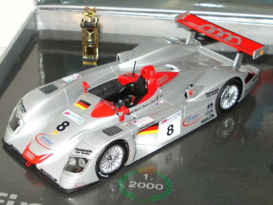 Foto 1:43 Audi R8 24h von Le Mans Siegerfahrzeuge 2000-2002 (3x Audi R8) Werbemodell Minichamps 50202006030
