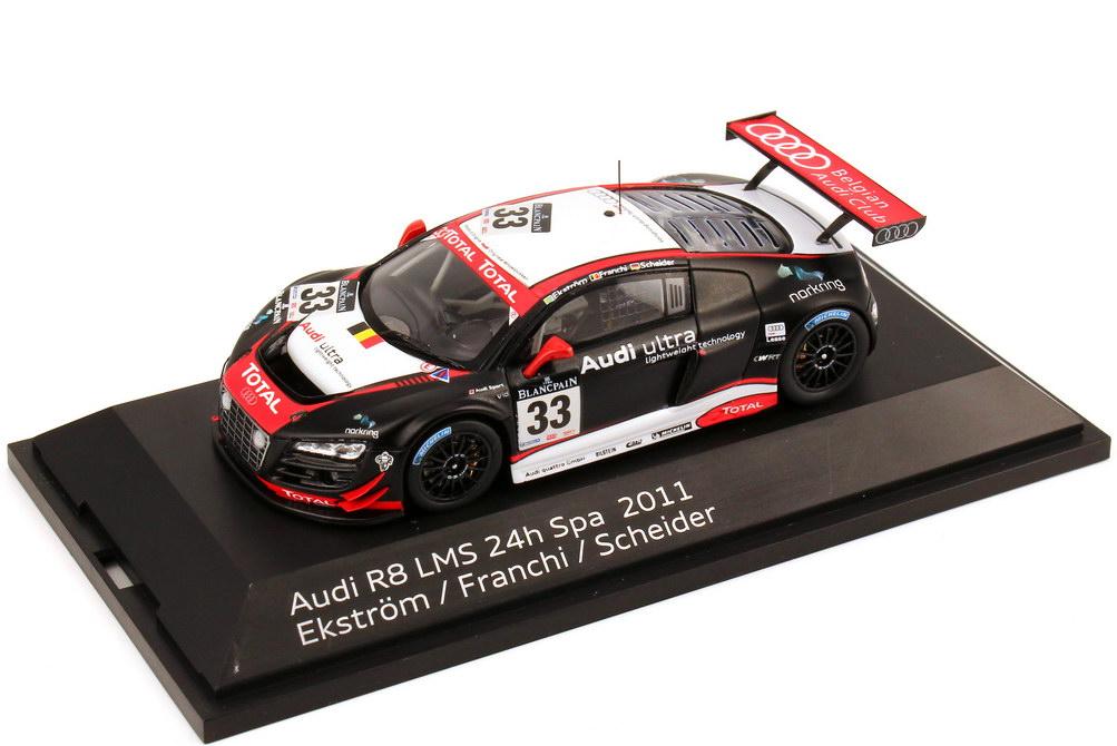 Foto 1:43 Audi R8 LMS 24 Stundenrennen Spa 2011 Nr.33, Ekström / Franchi / Scheider Werbemodell Spark 5021118453