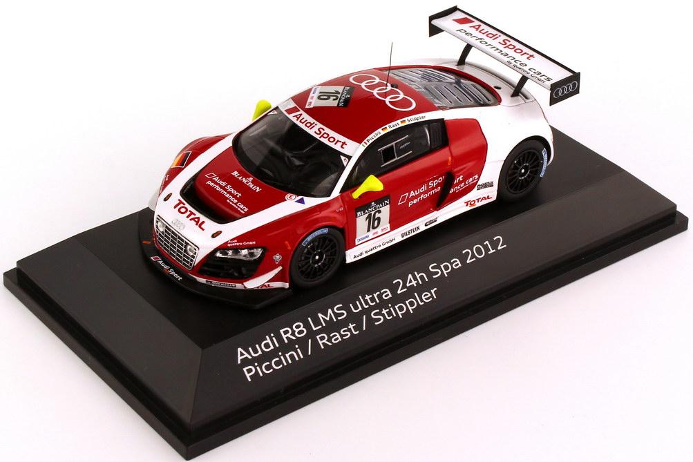Foto 1:43 Audi R8 LMS 24h Spa 2012 Audi Sport performance cars Nr.16, Piccini / Rast / Stippler Werbemodell Spark 5021200363