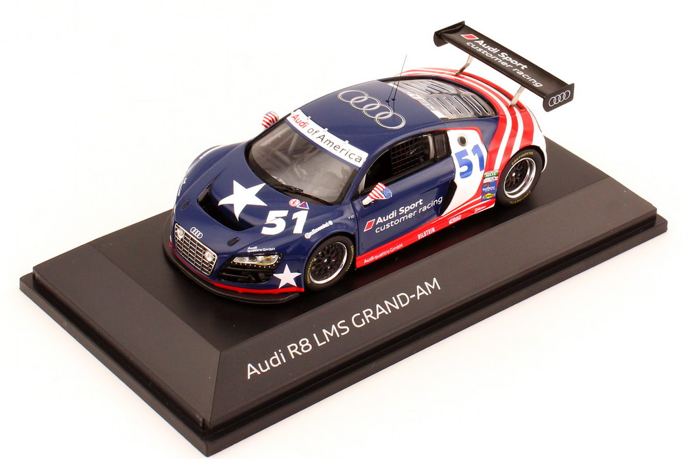 Foto 1:43 Audi R8 LMS Grand-Am Test-Car 2011 Audi of America, Audi Sport Customer Racing Nr.51, Frank Stippler Werbemodell Spark 5021200323