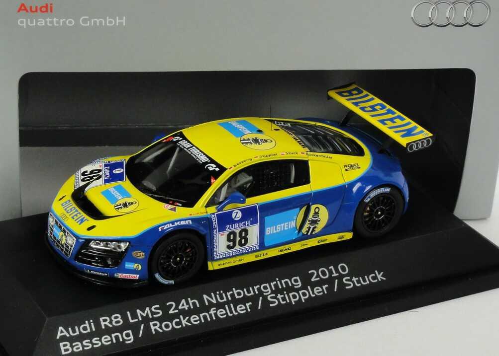 Foto 1:43 Audi R8 LMS 24 Stundenrennen Nürburgring 2010 Phoenix Racing, Bilstein Nr.98 Basseng / Rockenfeller / Stippler / Stuck Werbemodell Spark 5021018433