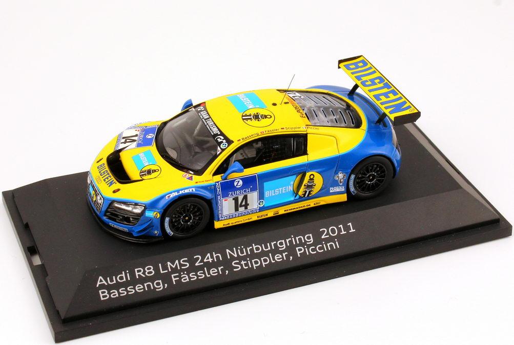 Foto 1:43 Audi R8 LMS 24 Stundenrennen Nürburgring 2011 Phoenix, Bilstein Nr.14, Basseng / Fässler / Stippler Werbemodell Spark 5021118413