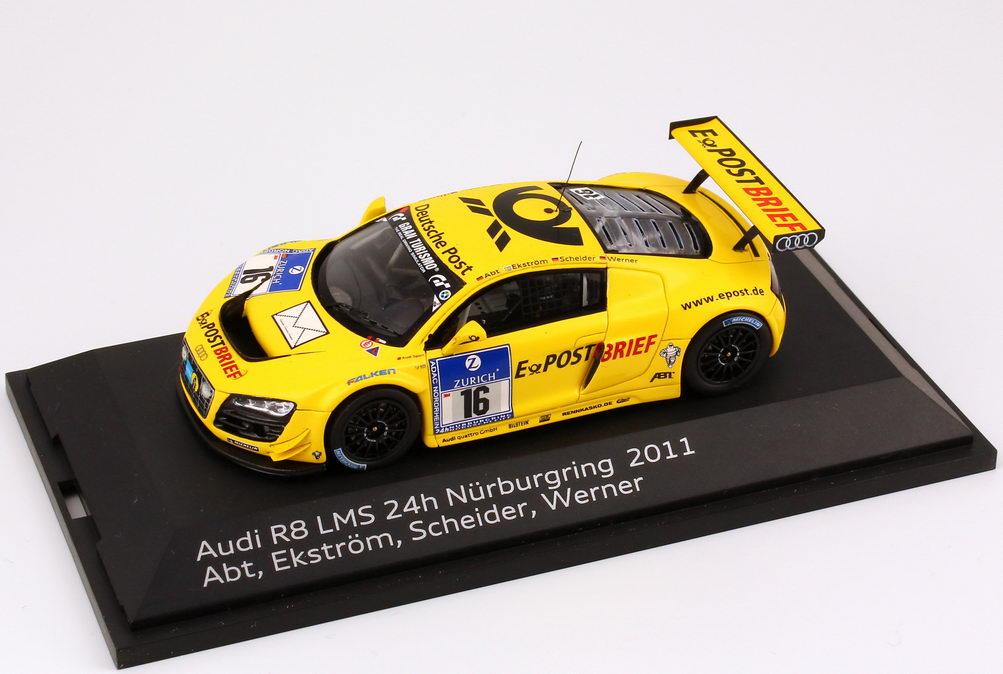 Foto 1:43 Audi R8 LMS 24 Stundenrennen Nürburgring 2011 Abt, E-PostBrief Nr.16, Ekström / Scheider / Werner / Abt Werbemodell Spark 5021118433