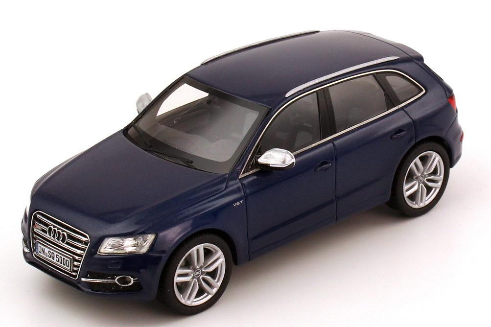 Foto 1:43 Audi SQ5 TDI estoril-blau-met. Werbemodell Schuco 5011215613