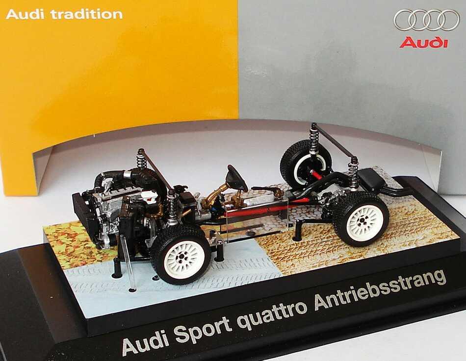 Foto 1:43 Audi Sport quattro Antriebsstrang Werbemodell Minichamps 5030500603