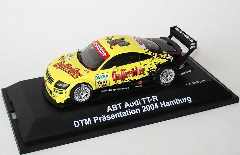Foto 1:43 Audi TT-R DTM Präsentation 2004 Hamburg, Taxi Hasseröder, Abt Schuco 04906