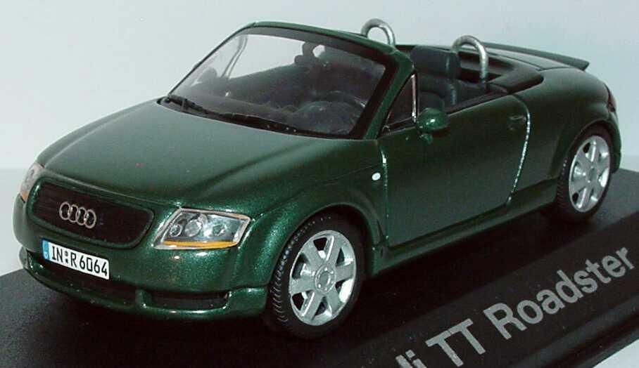 Foto 1:43 Audi TT Roadster (8N) mit Heckspoiler steppengras-met. Werbemodell Minichamps 5019900533