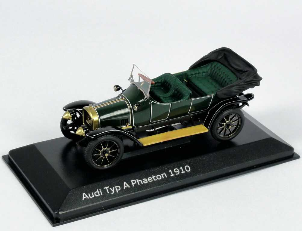 Foto 1:43 Audi Typ A Phaeton 1910 grün Werbemodell Minichamps 5030900903
