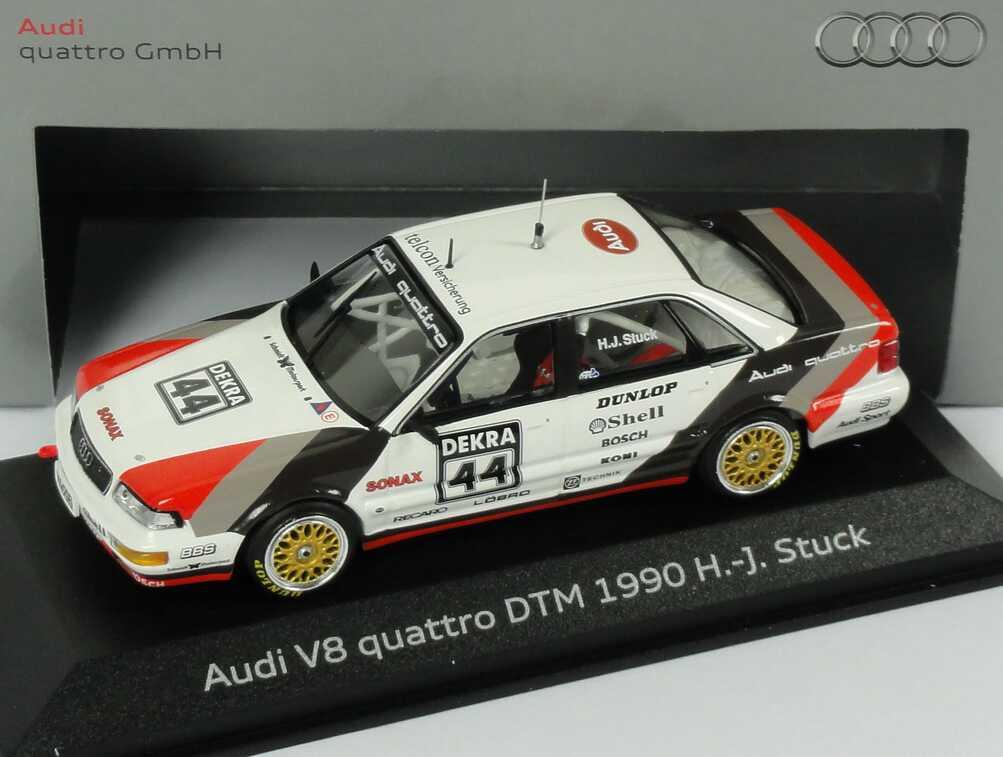 Foto 1:43 Audi V8 DTM 1990 SMS Nr.44, H.J.Stuck Werbemodell Minichamps 5030900403