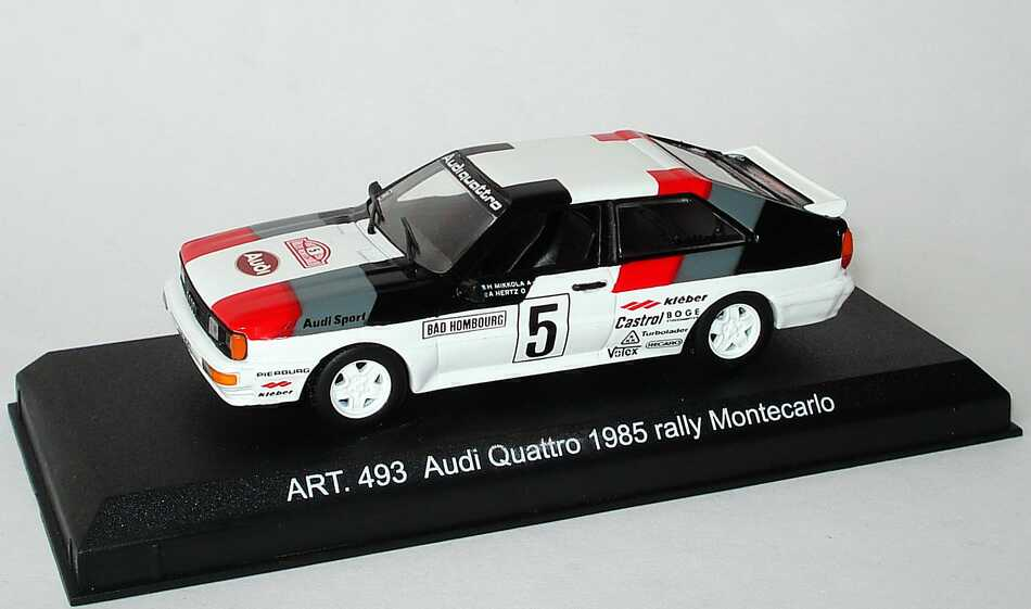 Foto 1:43 Audi quattro Rallye Monte Carlo 1985, Nr.5, Mikkola / Hertz Detail Cars