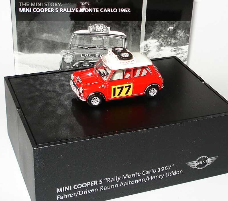 Foto 1:43 Austin Mini Cooper S Rallye Monte Carlo 1967 Nr.177, Aaltonen / Liddon Werbemodell Minichamps 80420427077