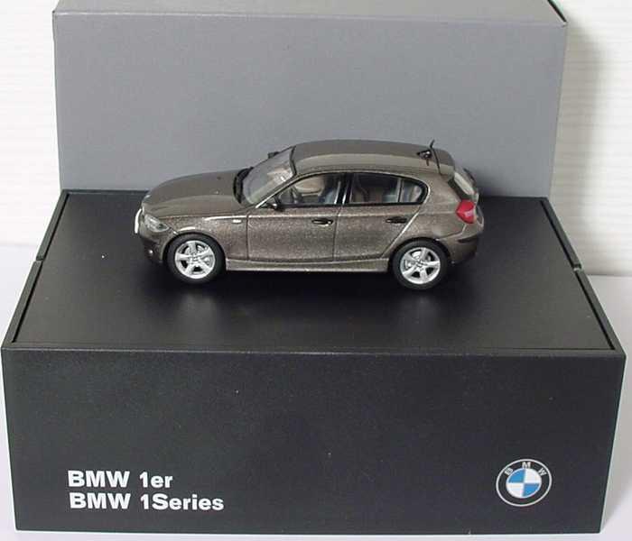 Foto 1:43 BMW 1er (E87) havanna-met. Werbemodell Kyosho 80420308605