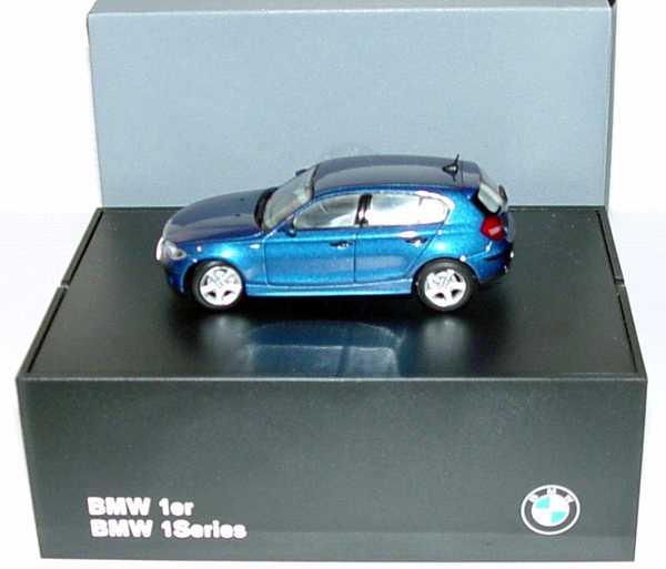 Foto 1:43 BMW 1er (E87) sydneyblue-met. Werbemodell Kyosho 80420308604