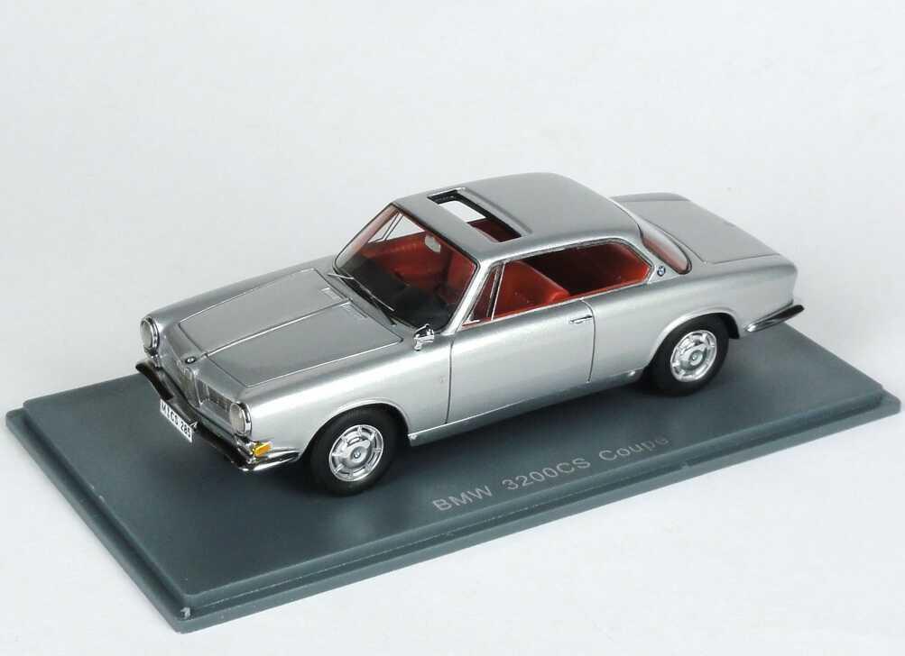 Foto 1:43 BMW 3200 CS E512 silber-met. NEO Scale Models 44283